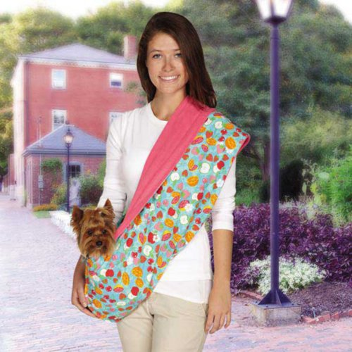 East Side Collection ZA5164 75 Fruit Frenzy Reversible Sling Carrier, Pink (Collection Pet East Carrier Side)