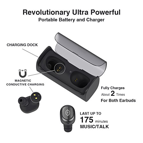bluetooth wireless earbuds aireye true stereo 4 1 headphones with portable case ebay. Black Bedroom Furniture Sets. Home Design Ideas
