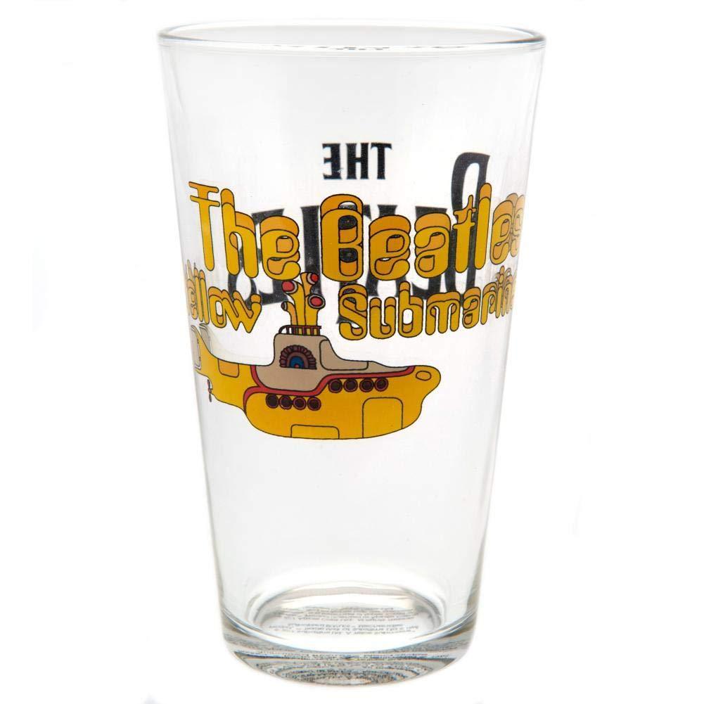 The Beatles Large Glass Yellow Submarine
