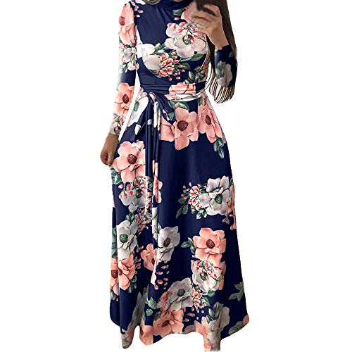 Donna Boho Delle Vestito InvernaleAbito donna Manica Festa Dress Maniche Lunga A Blu Maxi Cloom Tinta Lungo Donne Donna Elegante Lunghe QdCosBtrhx