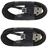 Two (2) OEM Samsung USB-C Data Charging Cables for Galaxy S9/S9 Plus/S8/S8+/Note8 - Black EP-DG950CBE- Bulk Packaging + Free Mini Stylus