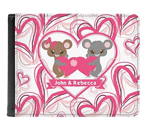 Billetera De personalizado Verdadera Cuero De Hombres De Pliegue Valentín Los San Doble De Días 5aFpWx