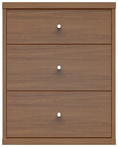 tor Nightstand 2.9 Collection Modern 3 Drawer Night Stand For Bedrooms with Closed Base, 31