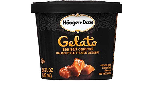 Haagen-Dazs Gelato Cup, Sea Salt Carmel, 3.6 oz (Frozen): Amazon.com: Grocery & Gourmet Food