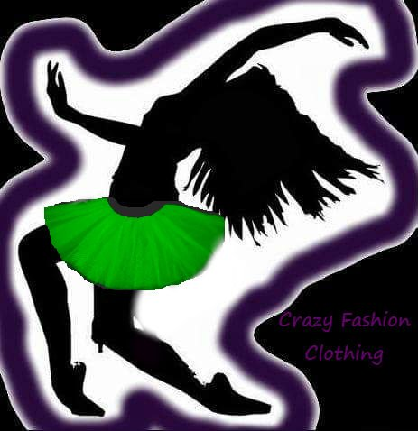 Uv Green Tutu Skirt Basic Party Emo Dance Rave Hen by crazy fashion clothing
