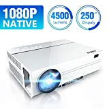 "Projector, ABOX A6 Portable Home Theater 1080p Video Projector, Up to 200"" Image"
