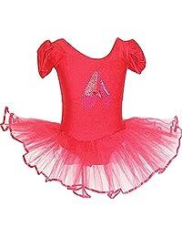Astage Little Girl's' Short Sleeve Ballet Tutu Leotard