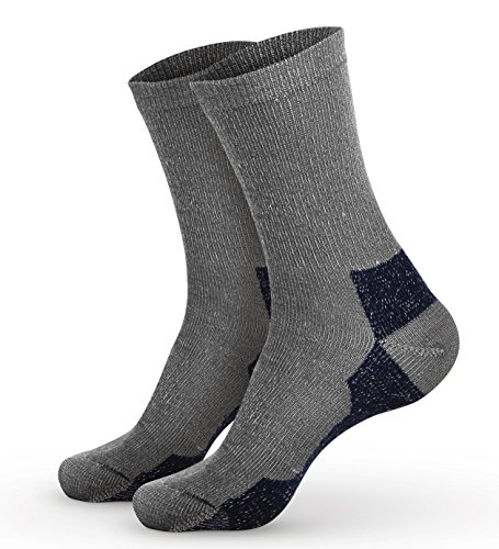Pembrook Wool Trail Socks - L/XL (1-Pack Navy) - Soft, Warm, Thermal Merino Wool – Great for hiking, work, skiing, hunting. Sized for Men and Women Wool Hunting Clothes