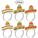 Tinksky Cinco De Mayo Fiesta Headband Party Colorful Sombrero Headbands Accessories Party Supplies 6pcs Pack