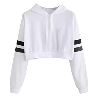 HYIRI Womens Casual Solid Long Sleeve Hoodie Sweatshirt Hooded Pullover Tops Blouse