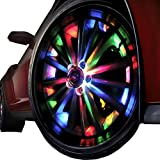 NEW POWER 16 LED 4 Mode 7 Colors Car Smart Solar Energy Wheel Light Waterproof Decorative Flashing Lamps Colorful Modified Tyres Lamp 4 Packs