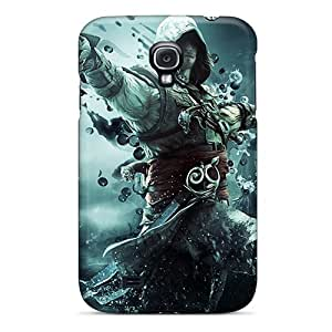 Shock Absorption Hard Cell-phone Cases For Samsung Galaxy S4 (MPY4667BdNL) Allow Personal Design Realistic Assassins Creed Iv: Black Flag Skin