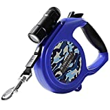 good dog bad dog leash - FENGRUIL Retractable Dog Leash with Removable Flashlight for Small-Medium Dogs 26ft Dog Walking Leash with One Button Break&Look and Soft Hand Grip