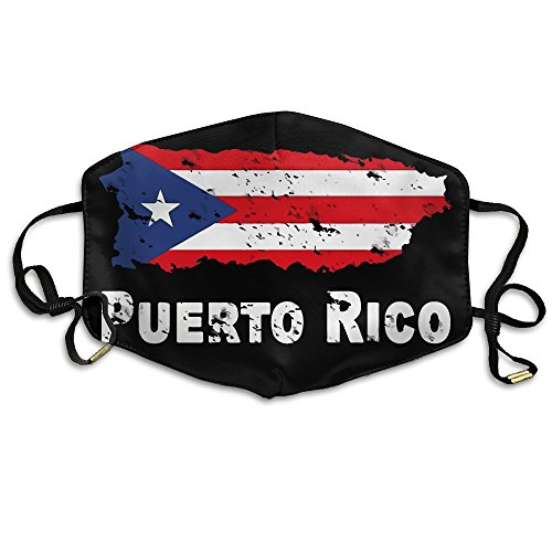 Puerto Rico Flag Dress (Puerto Rico Flag - Support Puerto Rico Anti-dust Earloop Face Mouth Mask Muffle Unisex Breathable Fashion Mask)