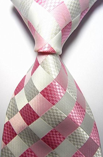 ext-collectino-100-silk-necktie-new-classic-checked-pink-white-tie-jacquard-woven-mens-suits-ties