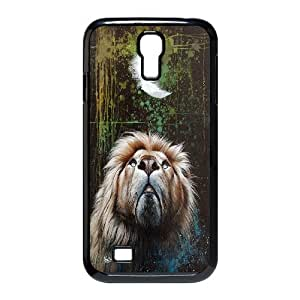 Powerful Lion High Quality Pattern Hard Case Cover for Samsung Galaxy Case S4 HSL418167