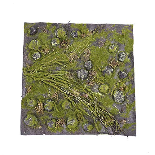 Global footprint Hanging Wall Artificial Greenery mat Plant with Plastic net Base Artificial Moss by Global footprint