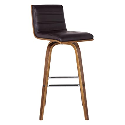 Merveilleux Armen Living LCVIBABRWA26 Vienna 26u0026quot; Counter Height Barstool In Brown  Faux Leather And Walnut Wood