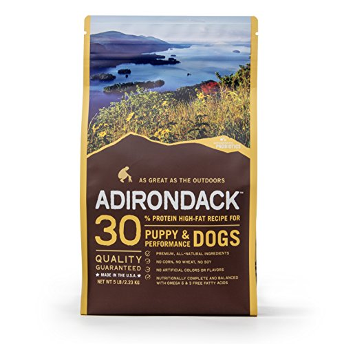 Adirondack Pet Food 22465 30% Protein High-Fat Recipe For Puppy & Performance Dogs, 30lb. by Blackwood Pet Food