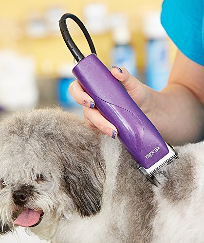 Andis EasyClip Pro-Animal 7-Piece Detachable Blade Clipper Kit, Animal/Dog Grooming, Purple MBG-2 (21420) by Andis (Image #3)