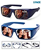 Super Clear | 3D Glasses For Cinema/Theaters/3D TV | 2 PACK(RealD&IMAX)