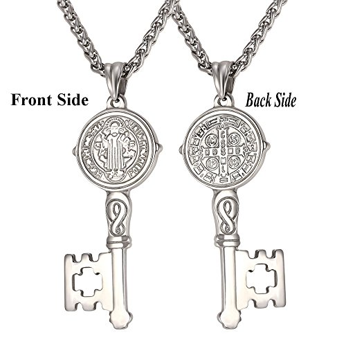 U7 Stainless Benedict Necklace Christian