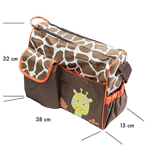 VENKON–Multi Función bolso cambiador Incluye Colchón–diverese patrón jirafa