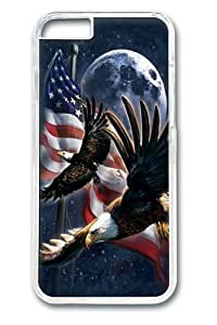 iphone 6 plus Case, iphone 6 plus Cases -Patriot Eagle Moon Polycarbonate Hard Case Back Cover for iphone 6 plus 5.5 Transparent