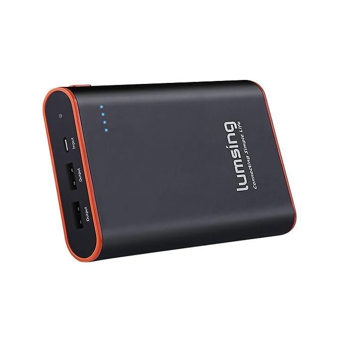 Lumsing® Batería externa 13400mAh, Cargador portátil externo, Power bank para iPhones, iPads, Samsung Galaxy, Android y otros Smartphones (negro)