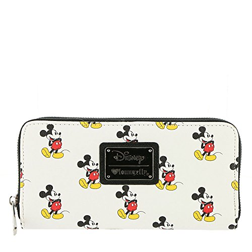 (Loungefly Mickey Mouse All Over Print Wallet Standard,)