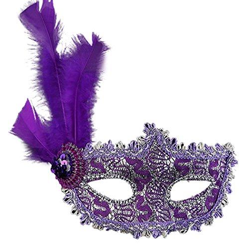 Clearbridal Women's Costume Purple Masquerade Mask CMJ011PL (Purple Masquerade Dresses)