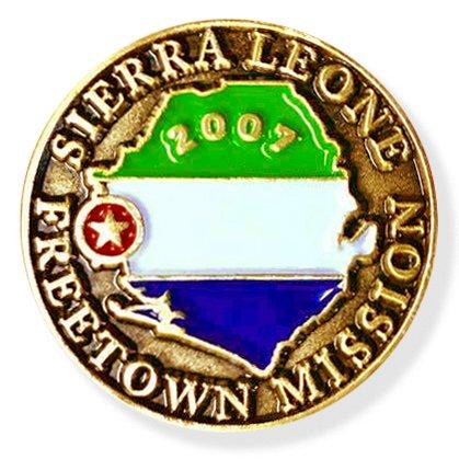 (LDS Sierra Leone Freetown Mission Commemorative Lapel Pin)