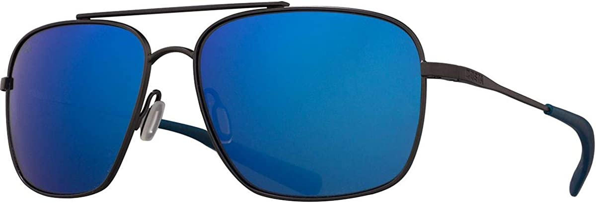Costa Canaveral Brushed Grey Titanium Frame Blue Lens Unisex Sunglasses CAN185OBMGLP