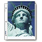 """Print File Archival Photo Pages Holds Two 8.5x11"""" Prints, Pack of 25"""