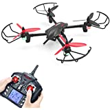 Quadcopter Drone, Metakoo D1 RC Drone with 720P HD Camera Large Battery Capacity for Beginners Quadcopter with Altitude Hold, 3D Flips, Headless Mode and One-key Return(Black)