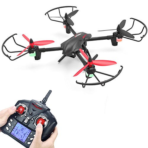 Quadcopter Drone, Metakoo D1 RC Drone with 720P HD Camera Large Battery Capacity for Beginners, Quadcopter with Altitude Hold, 3D Flips, Headless Mode and One-key Return(Black)