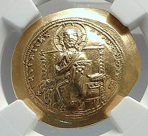 1059 TR Jesus Christ Ancient 1059AD Gold Byzantine Coin o coin Ch AU NGC