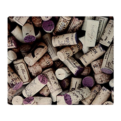 Stadium Throw Blanket I love Wine Corks (Cabernet Sauvignon Ink)