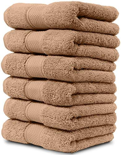 - 6 Piece Hand Towel Set. 2017(New Collection). Premium Quality Turkish Towels. Super Soft, Plush and Highly Absorbent. Set Includes 6 Pieces of Hand Towels. By Maura. (Hand Towel - Set of 6, Sand)
