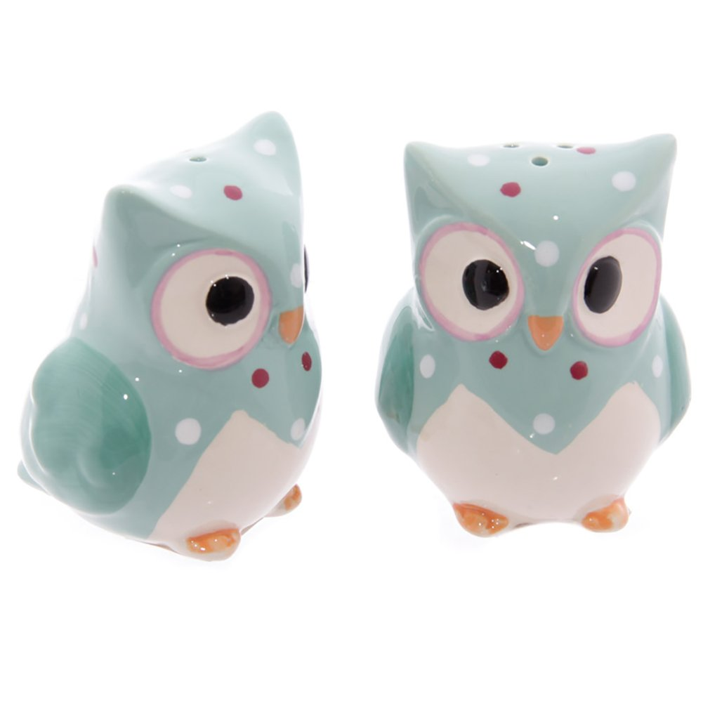 New in the Package ~ Owl Salt /& Pepper Shakers ~ Blue