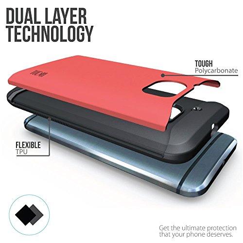 HTC 10 Funda, Caja protectora TUDIA Slim-Fit MERGE de doble capa para HTC 10 (HTC One M10) (Menta) Rosa