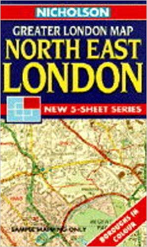 Map Of North East London.Nicholson Greater London Map North East London Sheet 2 Nicholson