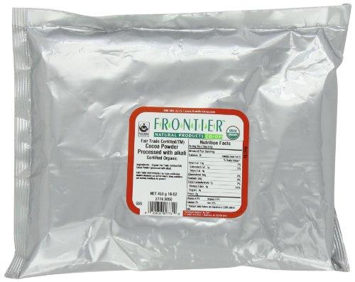 Frontier commerce équitable poudre de cacao traitée avec alcali Certified Organic, 16 onces Sac