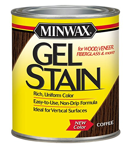 (Minwax 260914444 Interior Wood Gel Stain, 1/2 pint, Coffee)