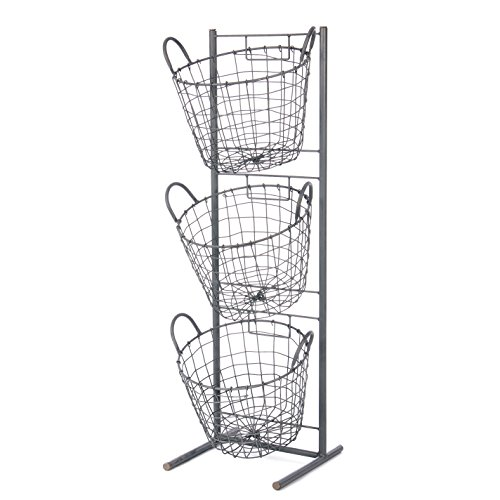 Unique Amazon.com: Skalny Round Metal 3 Tier Basket Display Stand, 11.75  QZ57