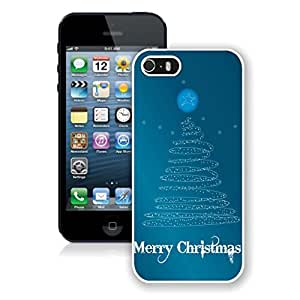 Iphone 5s Case,Merry Christmas Line Tree White Case For Iphone 5 5S Protective Case