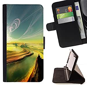 For LG G4 Case , Pintura Sunset Canyon Grand River- la tarjeta de Crédito Slots PU Funda de cuero Monedero caso cubierta de piel