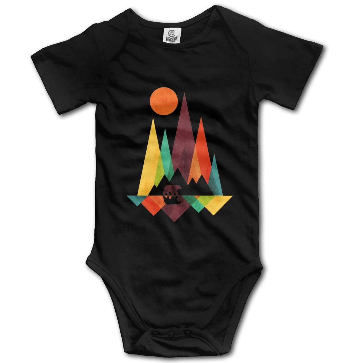 Bodysuits Clothes Onesies Jumpsuits Outfits Black HappyLifea Mountain Bear Colorful Logo Baby Pajamas