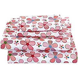 MK Home Mk Collection 3 Pc Twin Size Sheet Set Teens/Girls Pink Floral New