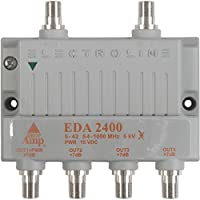 Electroline EDA-2400 4-Port Cable TV HDTV Signal Booster/Amplifier (Retail Package with 5-Year Warranty)